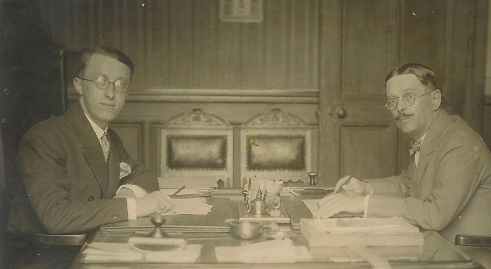 Photo Pierre FATTON et son fils (1928)